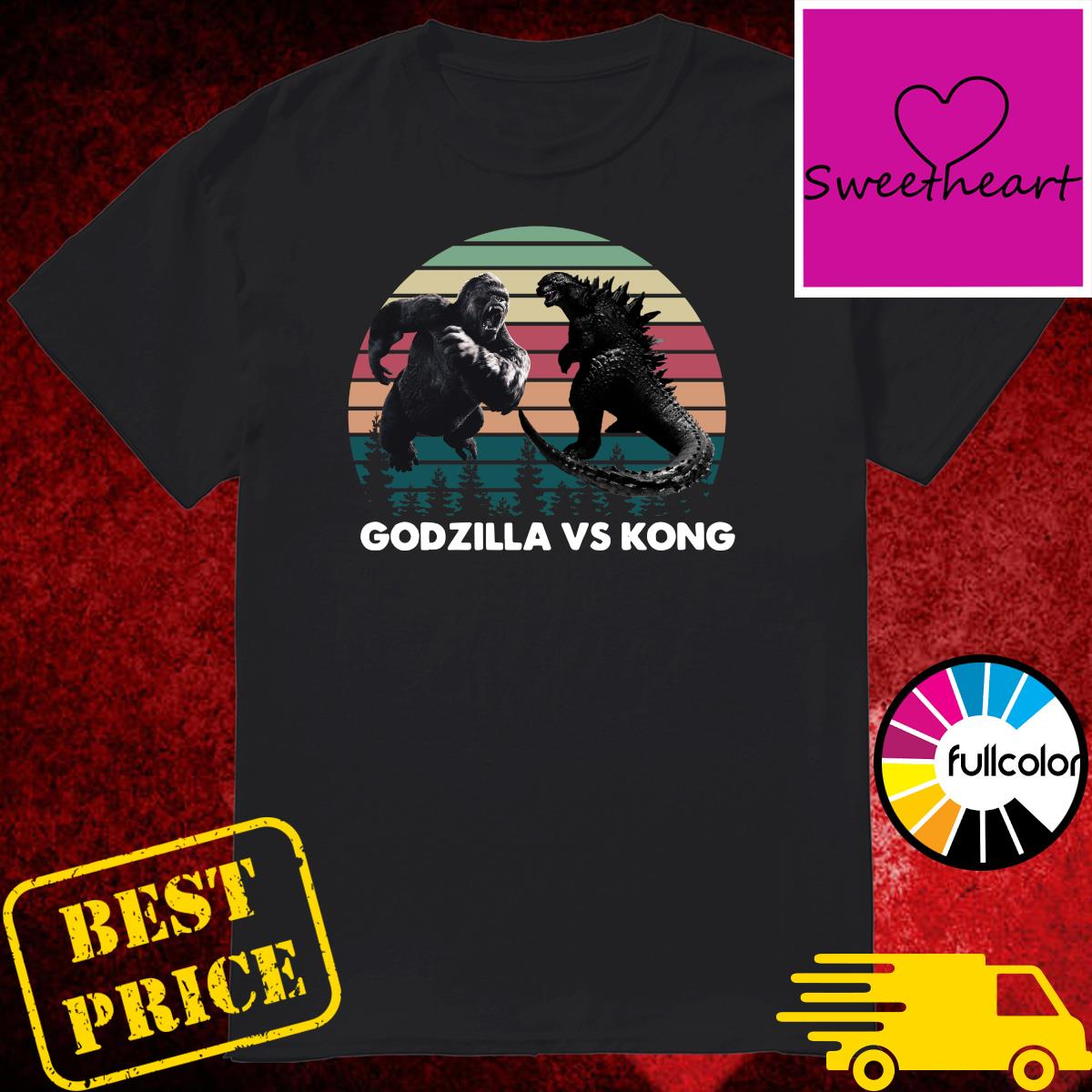 Godzilla vs Kong Shirt, Kaiju Godzilla Retro Kong Shirt Rodan Mothra Monster, Godzilla Shirt
