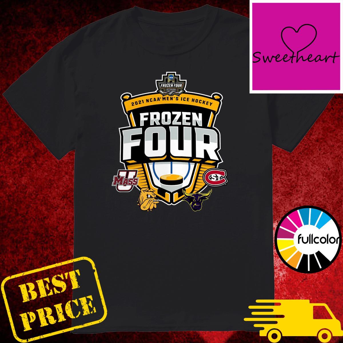 Official 2021 NCAA Men's Hockey Tournament Frozen Four T-Shirt