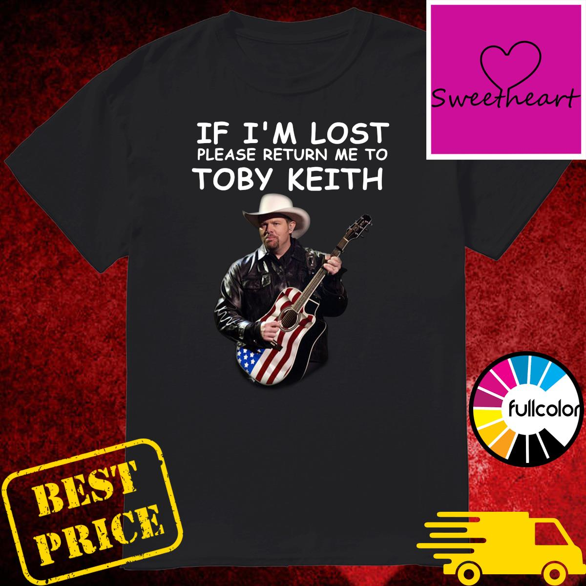 Official If I'm Lost Please Return Me To Toby Keith Shirt
