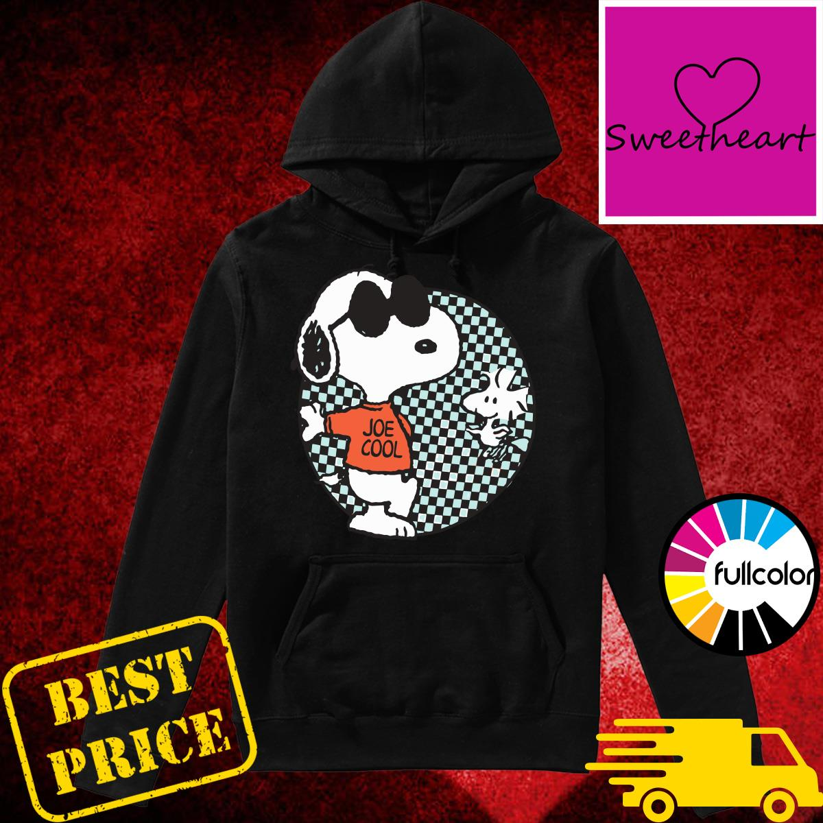Official Snoopy Joe Cool And Woodstock Checkered Cartoon Shirt Hoodie