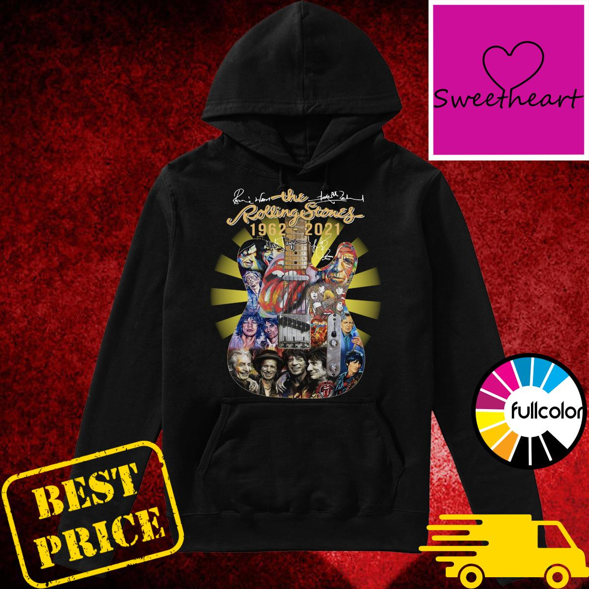 Official The Rolling Stones Bands 1962 2021 Signatures Shirt Hoodie