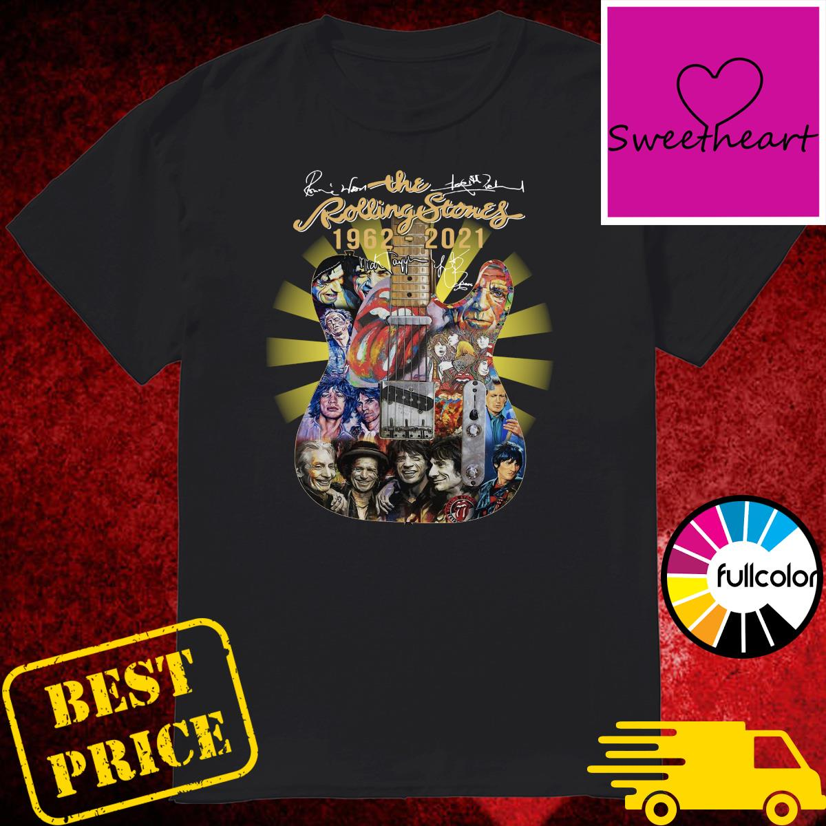 Official The Rolling Stones Bands 1962 2021 Signatures Shirt